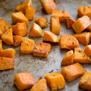 Sweet And Spicy Roasted Sweet Potatoes.