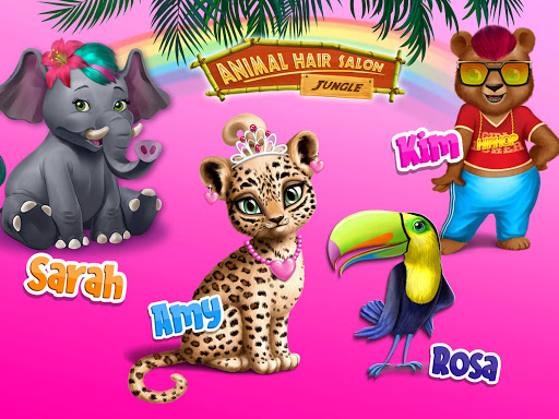 Jungle Animal Hair Salon - Styling Game for Kids android2mod screenshots 13