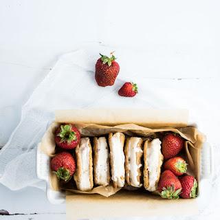 Strawberry Ice Cream Sandwiches.