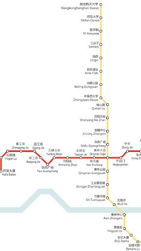선양 지하철 노선도