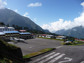 Photo: The tiny airport at Lukla