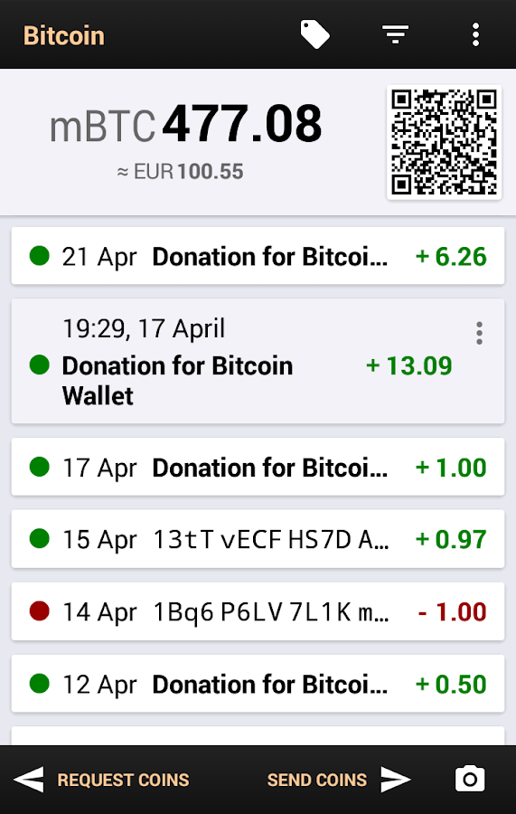 Bitcoin Wallet for Testnet - screenshot
