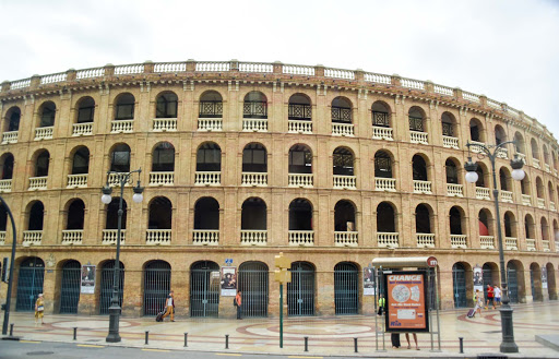 valencia-amphitheater-1.jpg - A bullfighting ring that is now used for concerts and events. Bullfighting has been banned in most of Spain.