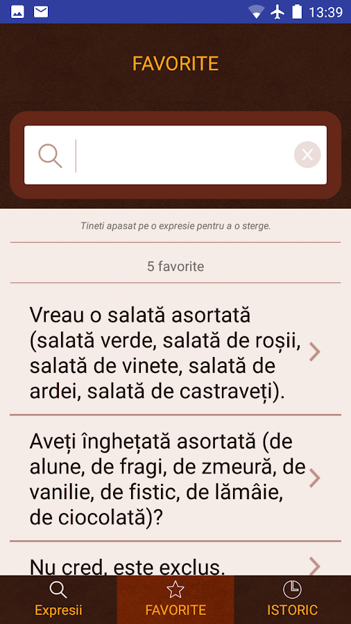 Dictionary Phrasebook App- screenshot