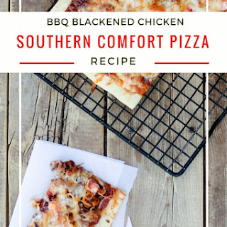 BBQ Blackened Chicken Southern Comfort Pizza.