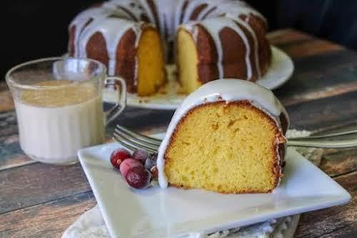"Eggnog Cake With Rum Frosting""This was originally an amaretto cake until I..."