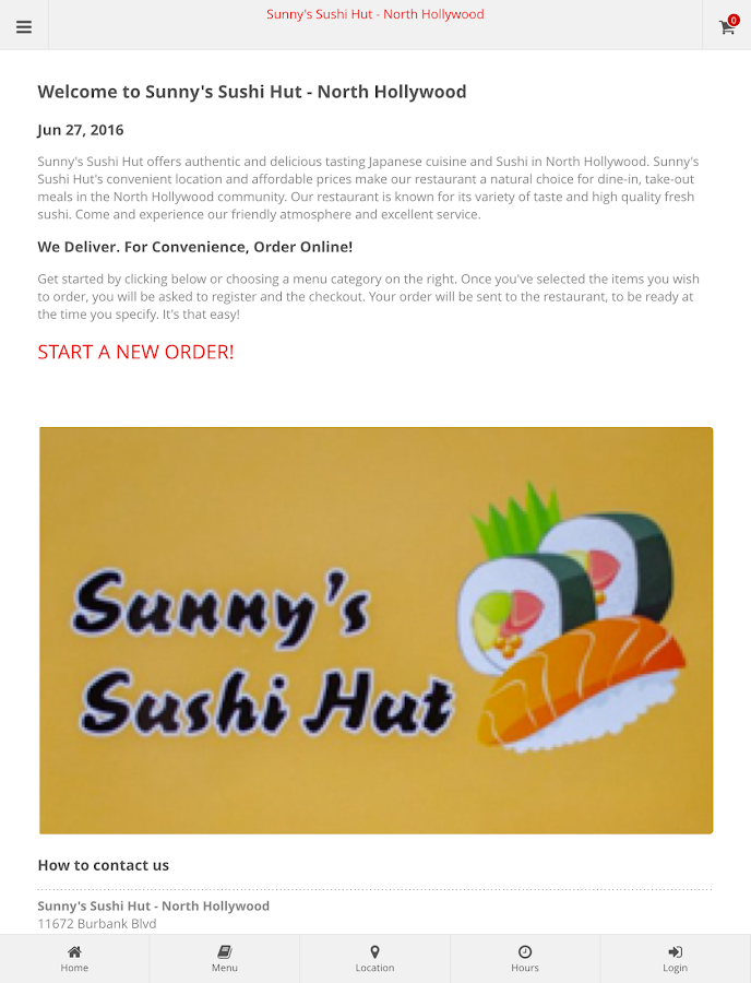 Sunny's Sushi Hut N.Hollywood- screenshot