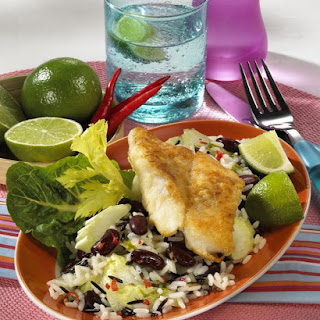 Caribbean Rice Salad with Fish.