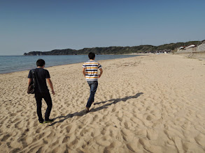 Photo: 鳴き砂。走るとキュッキュッと音が鳴る。