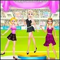 perfection gymnastics of dress fitness girl stand icon