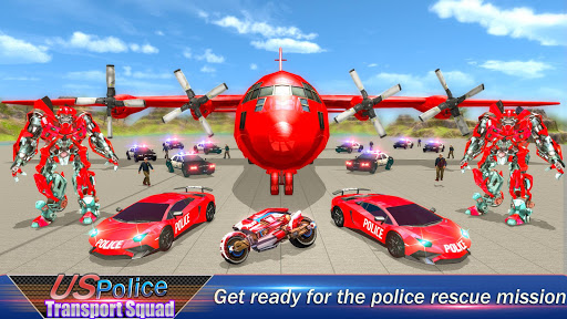 US Robot Police Transport Squad: Cargo Plane 1.2 screenshots 1