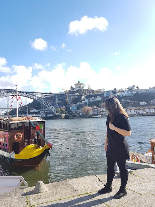Vista da ponte D. Luís I na Ribeira