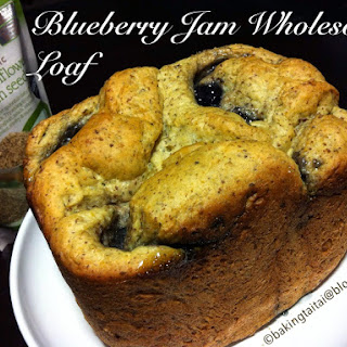 Blueberry Jam Wholesome loaf recipe for breadmaker