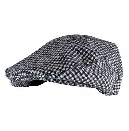 Tom Frank flat cap, svart och vit