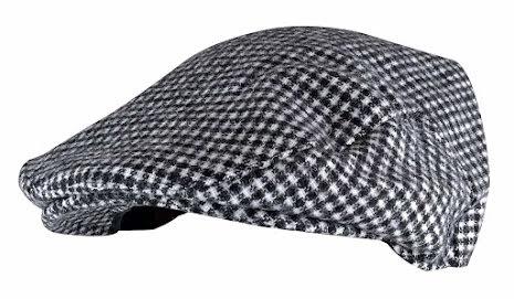 Flat cap, svart och vit