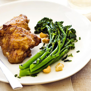 Five-Spice Chicken with Broccolini and Cashew Salad