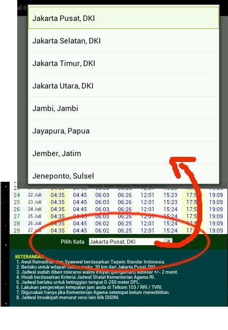 Jadwal Imsakiyah Ramadhan  Screenshot