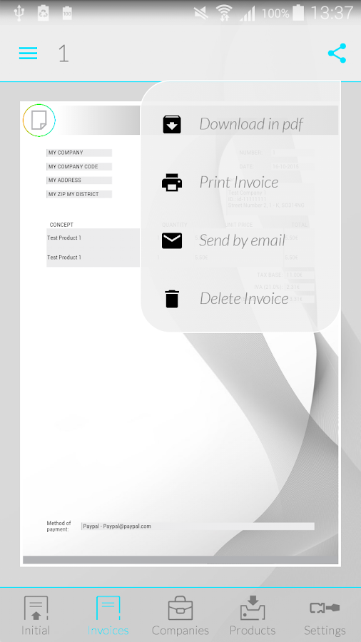 iInvoices: Invoices & Budgets- screenshot