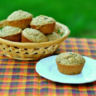 Zucchini Applesauce Oat Muffins