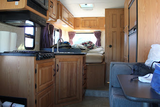 Photo: Inside the RV, it's still a mess for now.