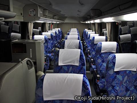 防長交通「福岡・防府・周南ライナー」 1033 車内