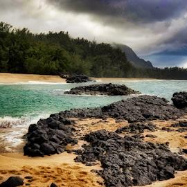 Kauai by Fabienne Lawrence - Uncategorized All Uncategorized ( landscape photography, rocks, kauai, water, landscape, sea )