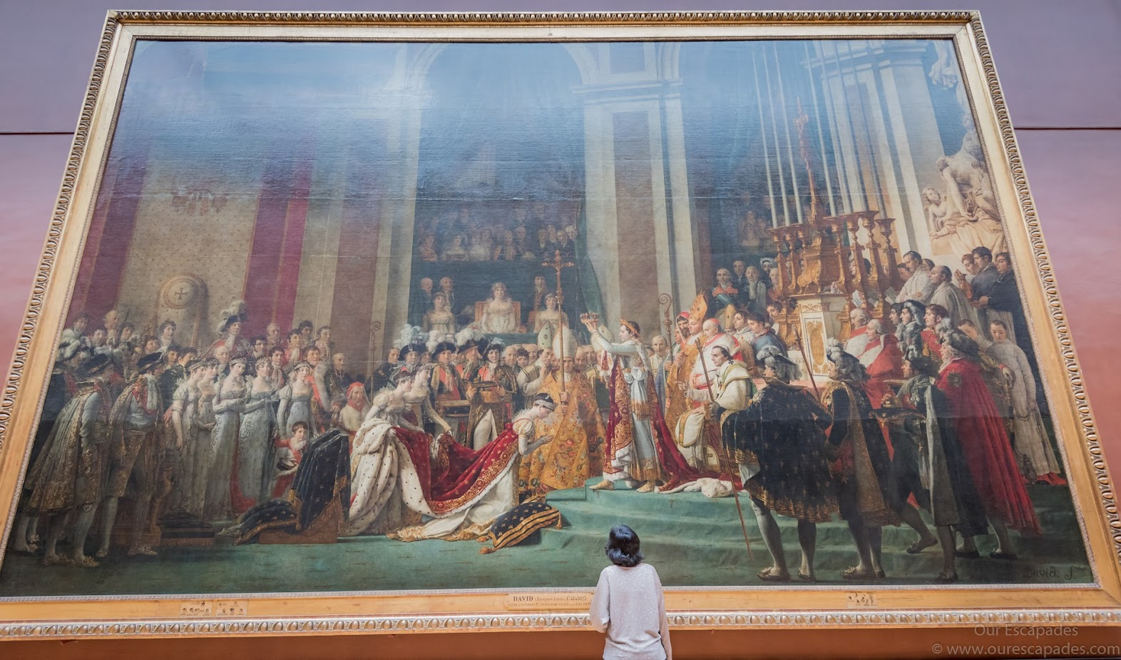 One of the largest paintings inside the Louvre