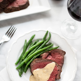 Beef Tenderloin with Cognac Cream Sauce.