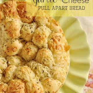 Garlic Cheese Pull Apart Bread with Frozen Bread Dough.
