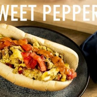 Sweet Pepper, Ham and Egg Sandwich.