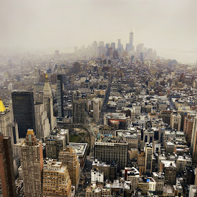 New York from 102nd Floor of Empire State Building by AsDigiClicks Photography - Landscapes Travel ( new york, sunrise, morning, landscape, usa, empire state )