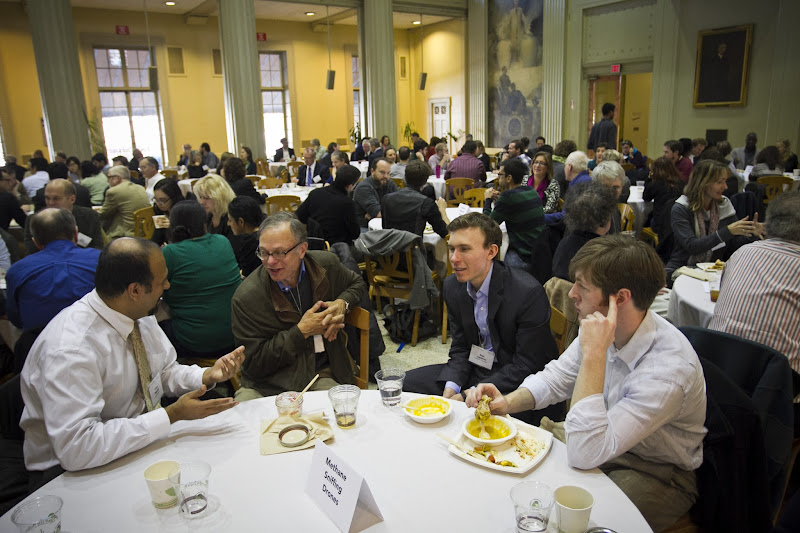 Photo: Community Lunch on Wednesday.  6 Nov. 2013, Cambridge, MA - The MIT Center for Collective Intelligence convenes its Climate CoLab conference at MIT.  Photo by Dominick Reuter