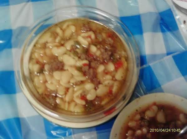 Attaboyslim's Dirty White Beans Recipe