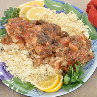 Moroccan Chicken with Eggplant Tomato Jam.