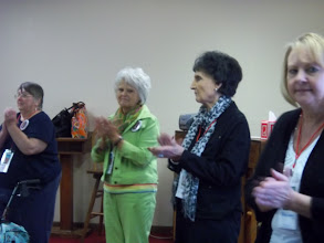 Photo: The women show appreciation for our hosts and for the day's leaders.