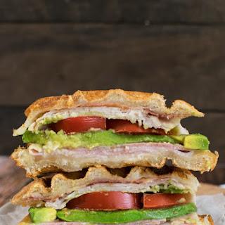 Turkey Club Waffle Sandwich.