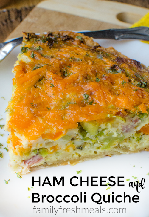"Click Here for Recipe: Ham Cheese and Broccoli Quiche ""This starts with..."