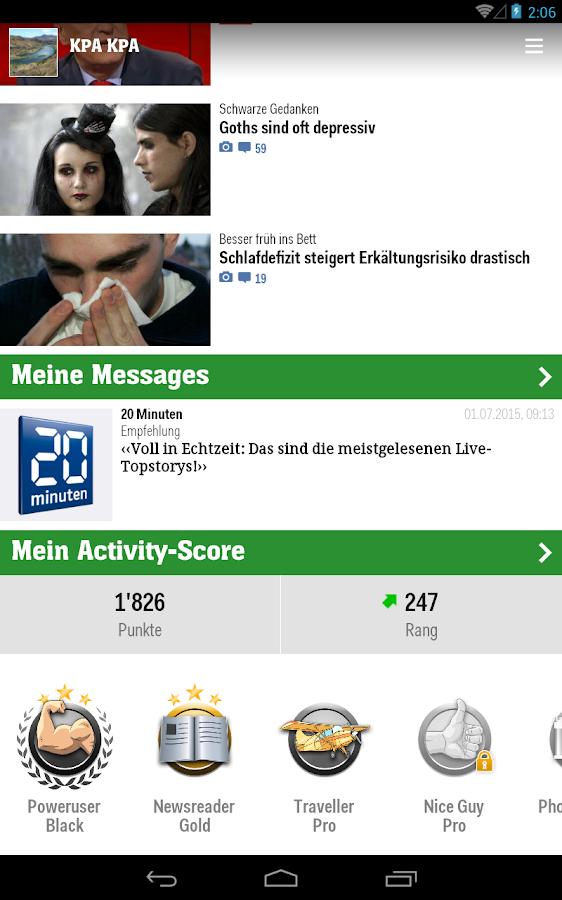 20 Minuten (CH)- screenshot
