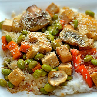 Sweet and Sour Tofu and Veggie Stir Fry