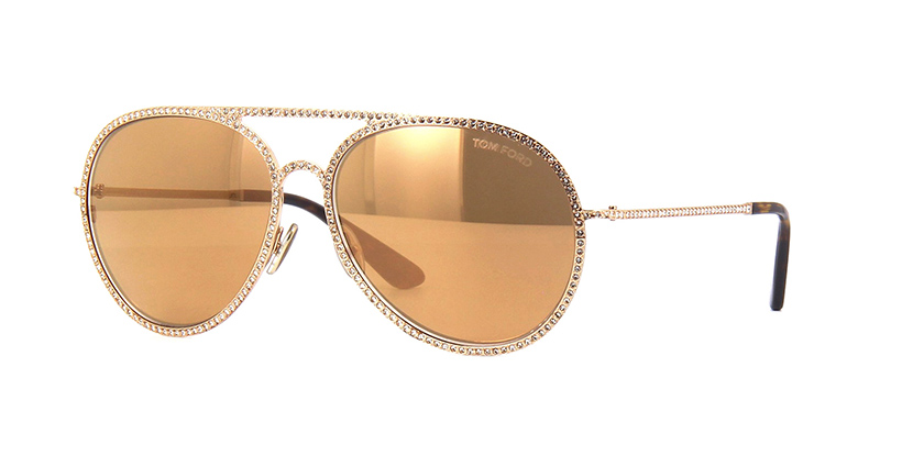 Tom Ford Antibes TF728 29G Brown with Gold Mirror Sunglasses | Pretavoir
