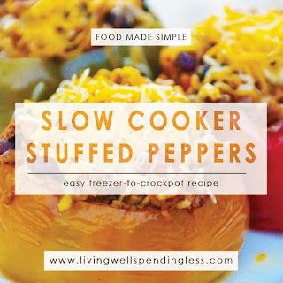 Slow Cooker Vegetarian Stuffed Peppers.