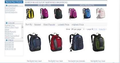 Photo: They even have Northface backpacks.