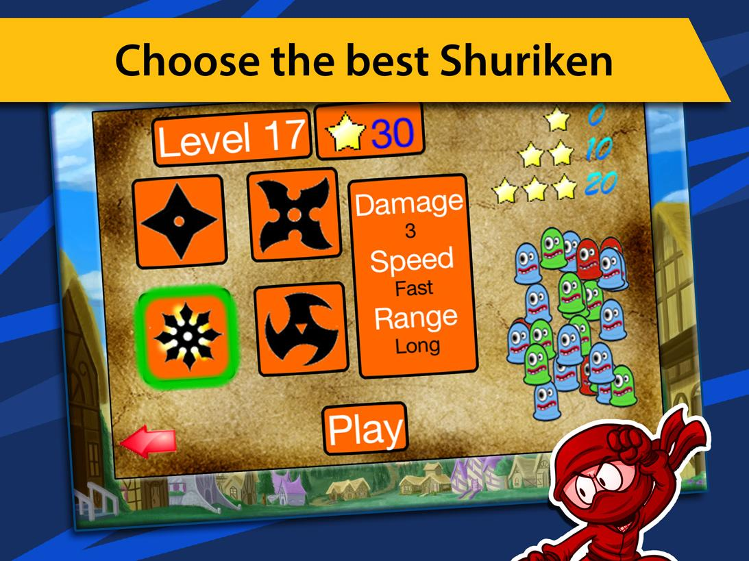 Ninja Shuriken Attack- screenshot