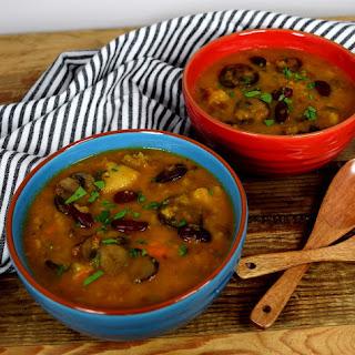 Mushroom Lentil Kidney Bean Soup