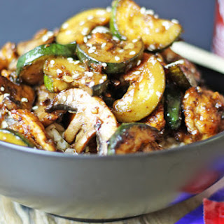 Panda Express Zucchini & Mushroom Chicken.