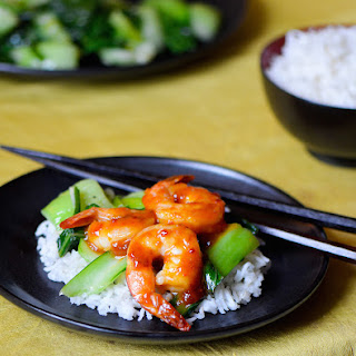 Shrimp Stir Fry with Baby Bok Choy.