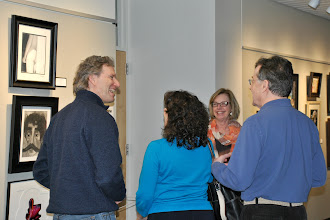 Photo: Members of the Department of Arts at Bucks and the Arts and Cultural Council of Bucks County enjoy an evening at the new gallery.