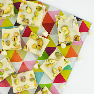 White Chocolate Pistachio Fudge