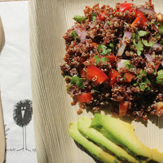 Red Quinoa And Avocado Salad.