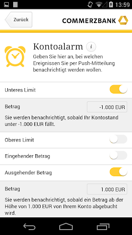 android Commerzbank Kontostand Screenshot 1